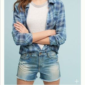 High Rise Denim Shorts by AG